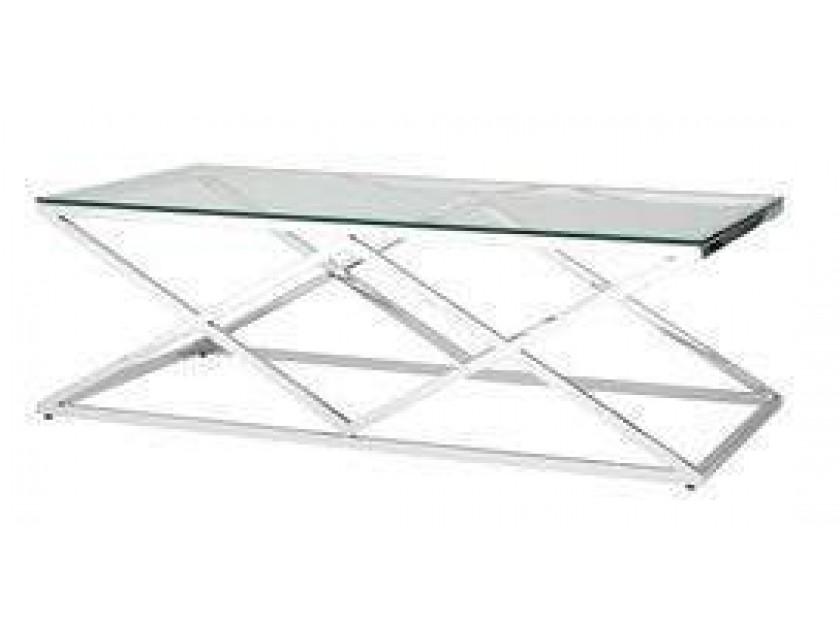 журнальный стол Журнальный столик Stool Group Инсигния серебро [ECT-026]