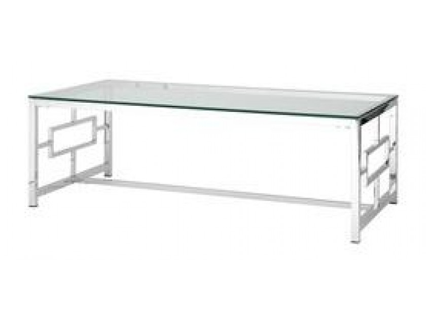 журнальный стол Журнальный столик Stool Group Бруклин серебро [ECT-013]