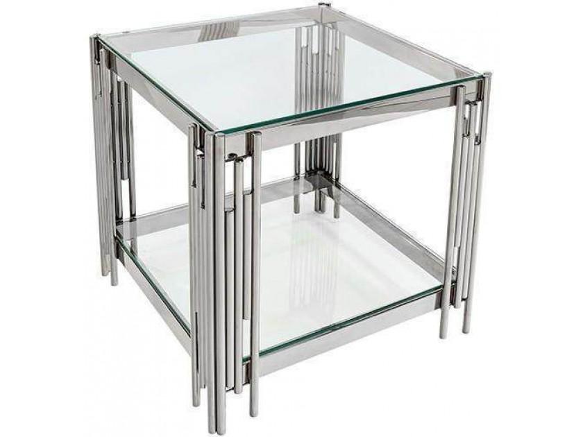 журнальный стол Журнальный стол Гэтсби сталь серебро