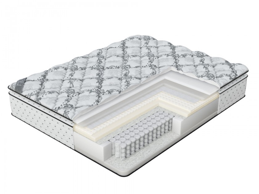 матрас Матрас Verda Verda Cloud Pillow Top (Silver Lace/Anti Slip) 180x190 Verda Cloud Pillow Top floral lace yoke frilled top