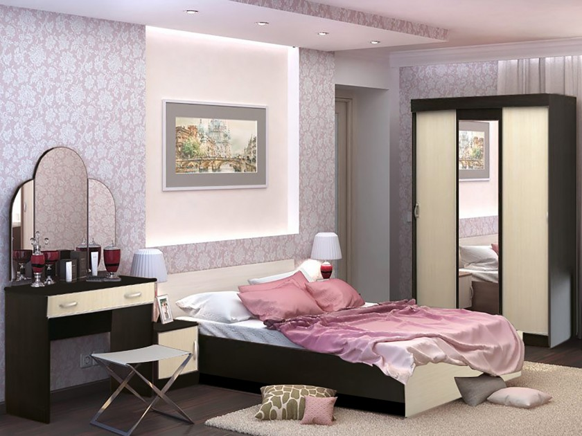 спальный гарнитур Спальня Бася Бася в цвете Венге