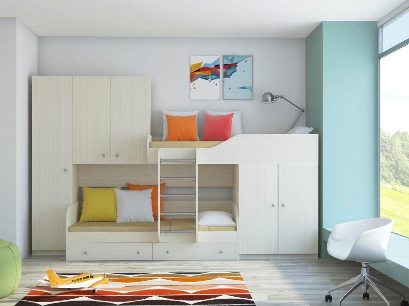 кровать Кровать двухъярусная Лео Кровать двухъярусная Лео