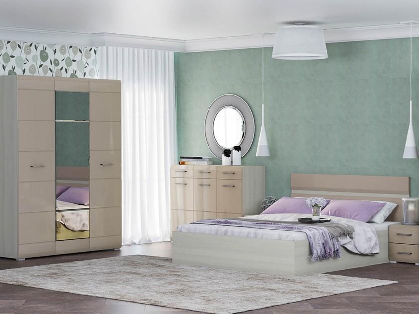спальный гарнитур Спальня Николь Николь в цвете Кофе с молоком спальня николь