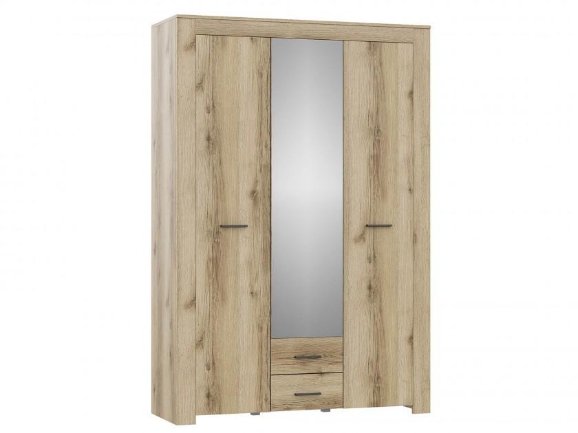 распашной шкаф Шкаф 3-х дверный Квадро-1 Квадро-1 в цвете Дуб делано светлый