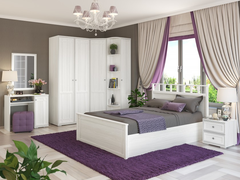 спальный гарнитур Спальня Ричард Ричард в цвете Ясень Анкор светлый