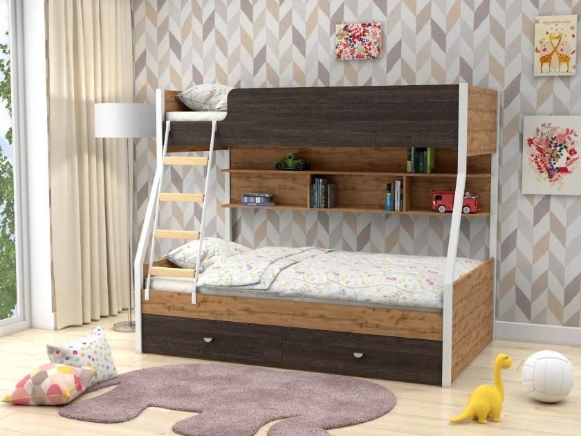 кровать Двухъярусная Golden Kids-3 (90х190/120х190
