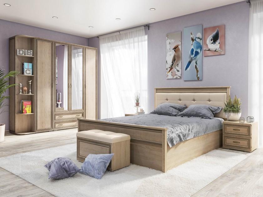 Фото - спальный гарнитур Спальня Ливорно Ливорно в цвете Дуб Сонома кровать кровать с пм ливорно 160х200 ливорно в цвете дуб сонома