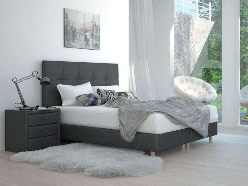 кровать Изголовье Stradivari Grand (160, серый/синий, Аллюр 707) Stradivari Grand