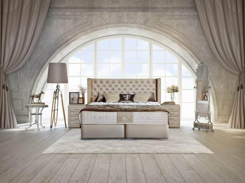 кровать Изголовье Tiffani (200, серый, Fusion Grey) Tiffani