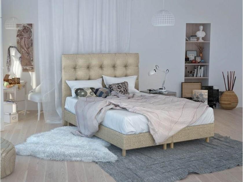 кровать Изголовье Rossini Grand (180, серый/синий, Аллюр 707) Rossini Grand