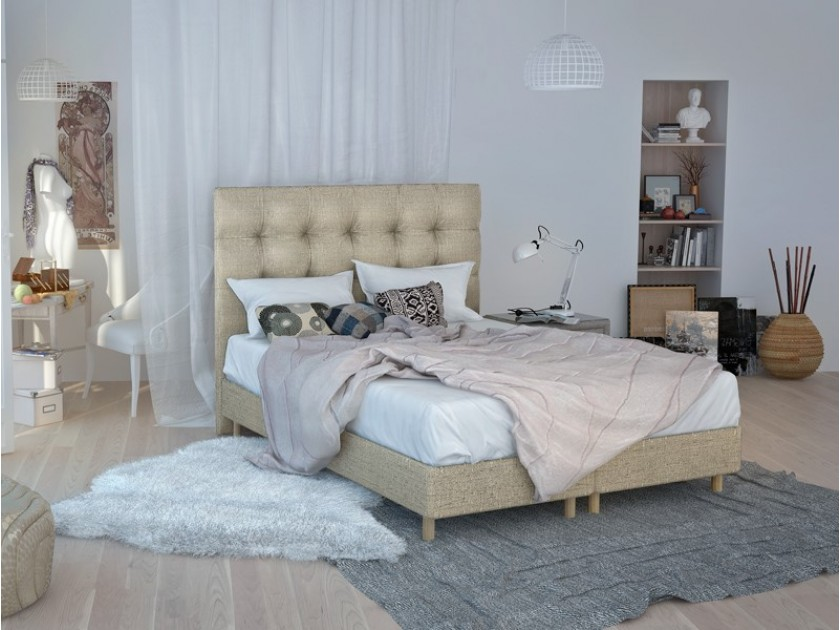 кровать Изголовье Rossini Grand (160, коричневый, Shaggy Vision) Rossini Grand