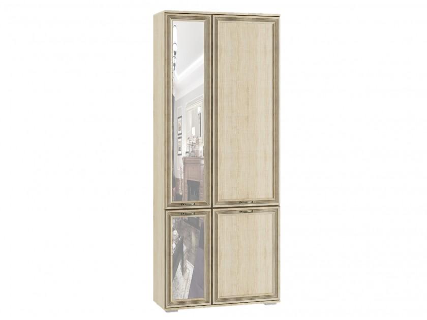 шкаф Шкаф комби с зеркалом ЛШ-9 Ливорно Ливорно в цвете Дуб Сонома шкаф настенный сокол пз 4 с зеркалом дуб сонома белый