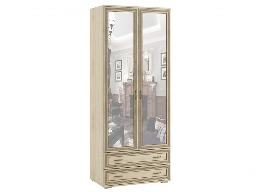шкаф Шкаф 2-х створчатый с зеркалом ЛШ-23 Ливорно Ливорно в цвете Дуб Сонома шкаф комбинированный с зеркалом ника ливорно лш 9 дуб сонома