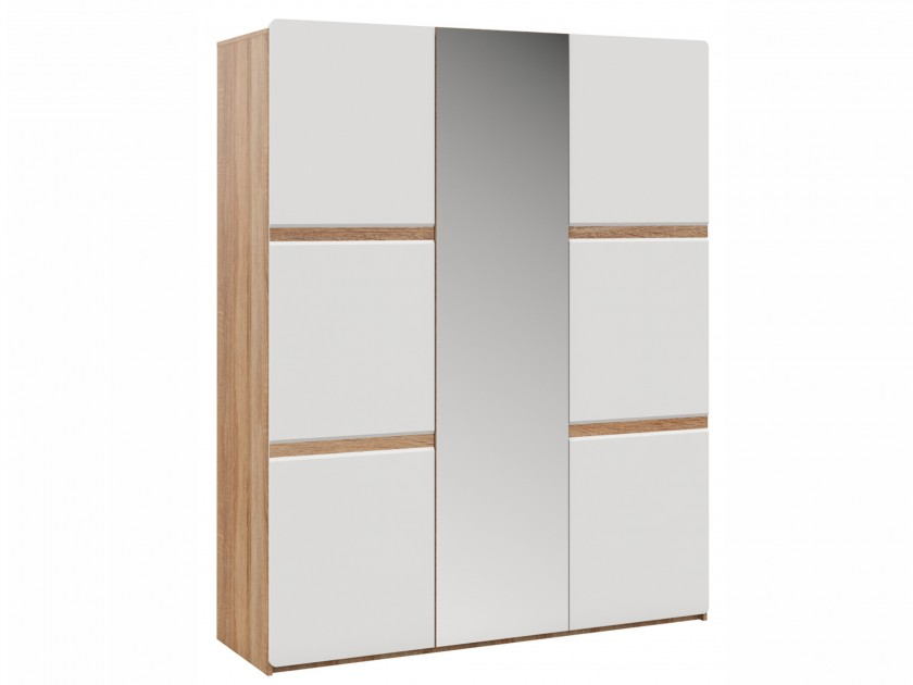 Фото - распашной шкаф Шкаф 3-х дверный Дуб Дакота Дакота распашной шкаф первый мебельный шкаф 3 х дверный глухой венето