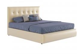 """Кровать Бежевая мягкая """"Селеста&; 1400 подъемным"""