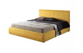 """Кровать Мягкая """"Selesta&; 1400 желтая с матрасом ГОСТ"""