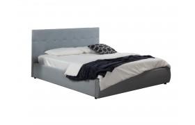 """Кровать Мягкая """"Selesta&; 1600 серая матрасом ГОСТ"""