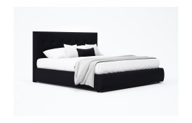 """Кровать Мягкая """"Selesta&; 1600 темная с матрасом АСТРА"""