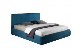 """Кровать Мягкая """"Selesta&; 1800 синяя матрасом ГОСТ"""