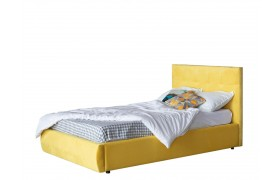 Кровать Мягкая Selesta 1200 желтая с подъемным механизмом матр