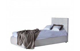 Кровать Мягкая Selesta 900 беж с ортопедическим основанием мат