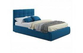 Кровать Мягкая Selesta 1200 синяя подъемным механизмом матра