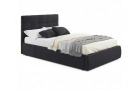 Кровать Мягкая Selesta 1200 темная с подъемным механизмом матр