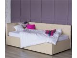 Односпальная кровать-тахта Bonna 900 беж кожа с подъемным механи купить