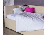 Односпальная кровать-тахта Bonna 900 беж кожа с подъемным механи распродажа
