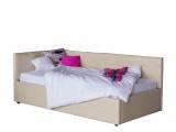 Односпальная кровать-тахта Bonna 900 беж кожа с подъемным механи недорого