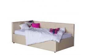 Кровать Односпальная тахта Bonna 900 беж кожа с подъемным механи