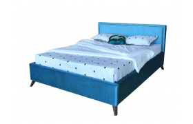 Кровать Мягкая Melani 1600 синяя ортопед.основание матрасом PR