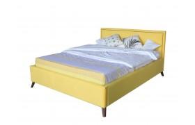 Кровать Мягкая Melani 1600 желтая ортопед.основание с матрасом P