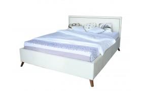 Кровать Мягкая Melani 1600 беж ортопед.основание с матрасом PROM