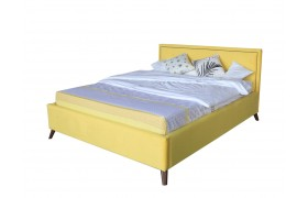 Кровать Мягкая Melani 1600 желтая ортопед.основание с матрасом А