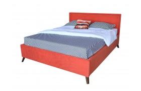 Кровать Мягкая Melani 1600 оранж ортопед.основание с матрасом АС