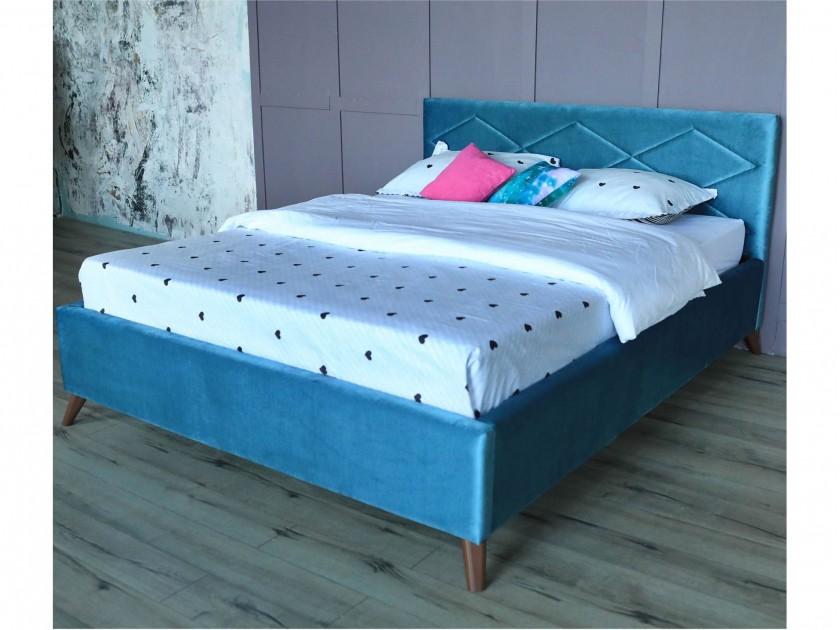 promo pr p2705 24 см Мягкая кровать Monika 1600 синяя ортопед.основание с матрасом PROMO B COCOS Мягкая кровать Monika 1600 синяя ортопед.основание с матрасом PR