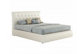 """Кровать Белая двуспальная """"Амели&; 1400 с мягкой"""