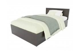 Кровать Адель 1200 с багетом и ортопедическим матрасом АСТРА