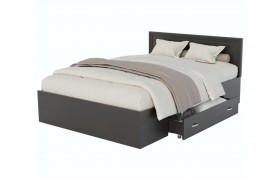 Кровать Адель 1200 с багетом, ящиком и матрасом ГОСТ