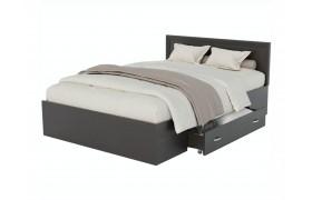 Кровать Адель 1200 с багетом, ящиком и ортопедическим матрасом