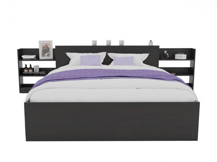 Кровать Доминика с блоком 160 (Венге) с матрасом PROMO B COCOS Кровать Доминика с блоком 160 (Венге) с матрасом PROMO B COCOS распродажа кроватей с матрасом недорого