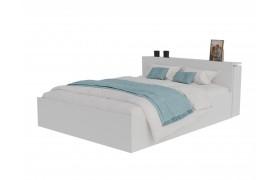 Кровать Доминика с блоком 160 (Белый) матрасом PROMO B COCOS