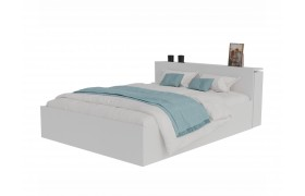 Кровать Доминика с блоком 160 (Белый) матрасом АСТРА