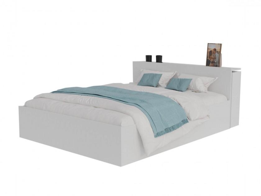 Кровать Доминика с блоком 160 (Белый) с матрасом АСТРА Кровать Доминика с блоком 160 (Белый) с матрасом АСТРА распродажа кроватей с матрасом недорого
