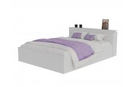 Кровать Доминика с блоком 140 (Белый) матрасом ГОСТ
