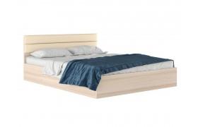 """Кровать Двуспальная """"Виктория МБ&; 1600 дуб с мягким"""