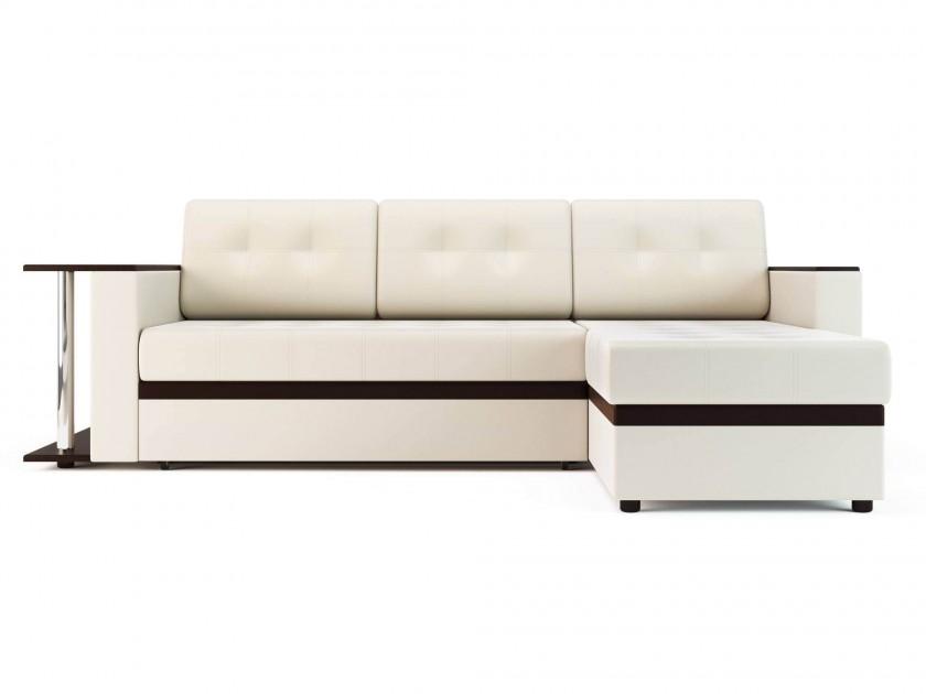 Белые кожаные угловые диваны