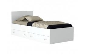 """Кровать Односпальная """"Виктория&; 900 с ящиками белая"""
