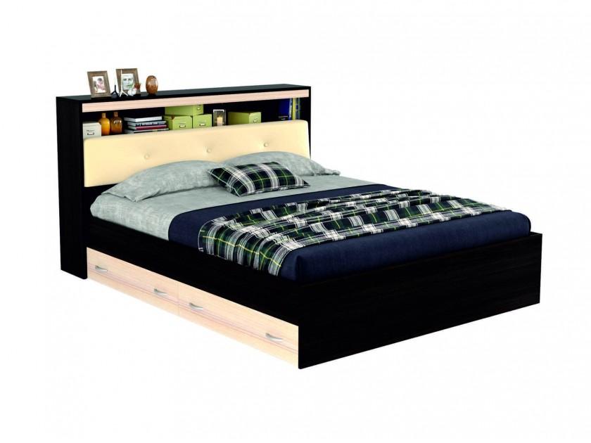 Двуспальная кровать с кожей Виктория ЭКО-П 1800 с блоком Двуспальная кровать с кожей Виктория ЭКО-П 1800 с бл